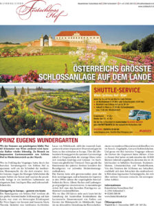 Schloss Hof, Advertorial