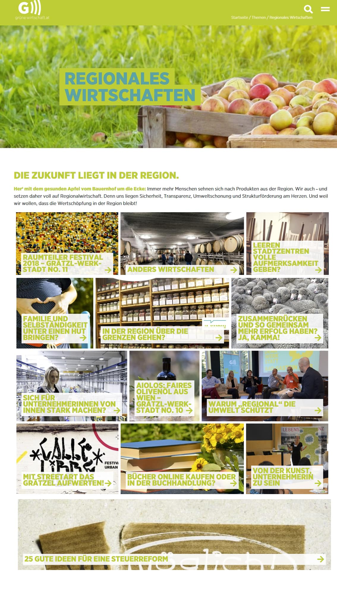Grüne Wirtschaft Website | Relaunch by Lina Bibaric