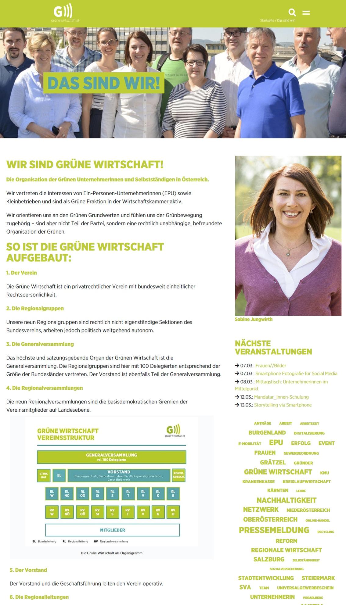 Grüne Wirtschaft Website | Lina Bibaric