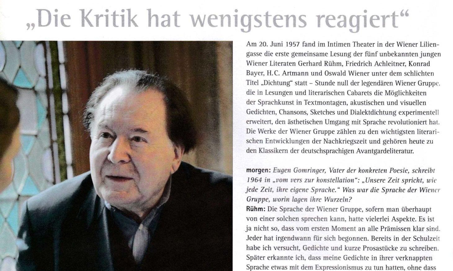 Gerhard Rühm im Interview mit Lina Bibaric
