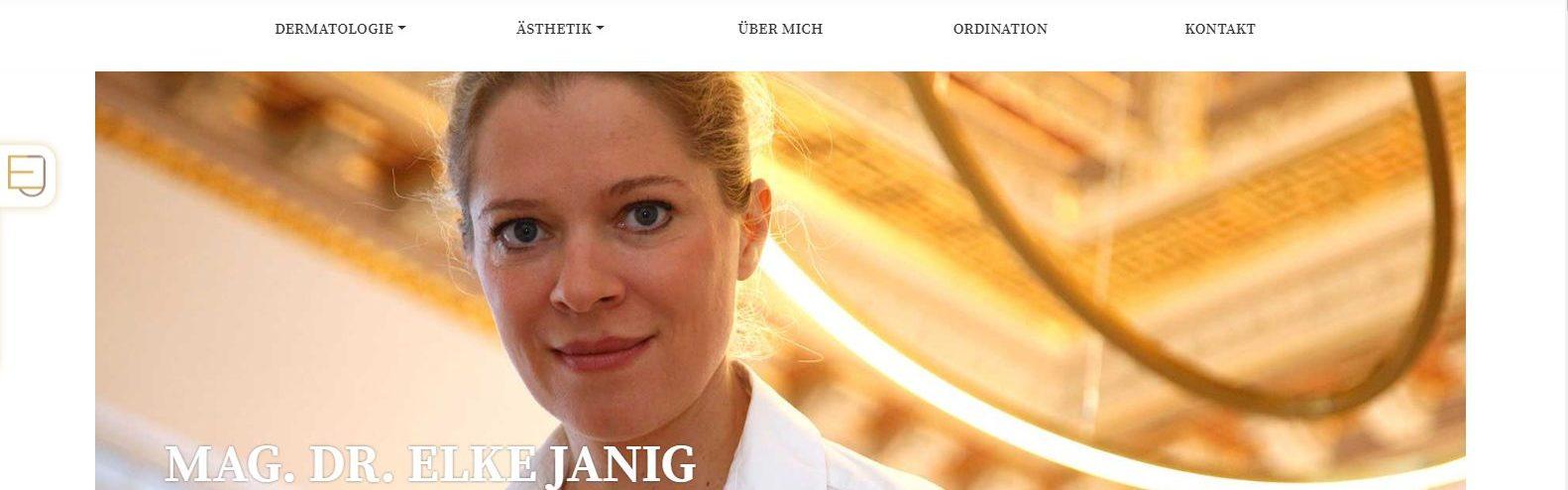 Foto von Dr. Elke Janig | Website mit Texten von Lina Bibaric, LiNAs BÜRO.