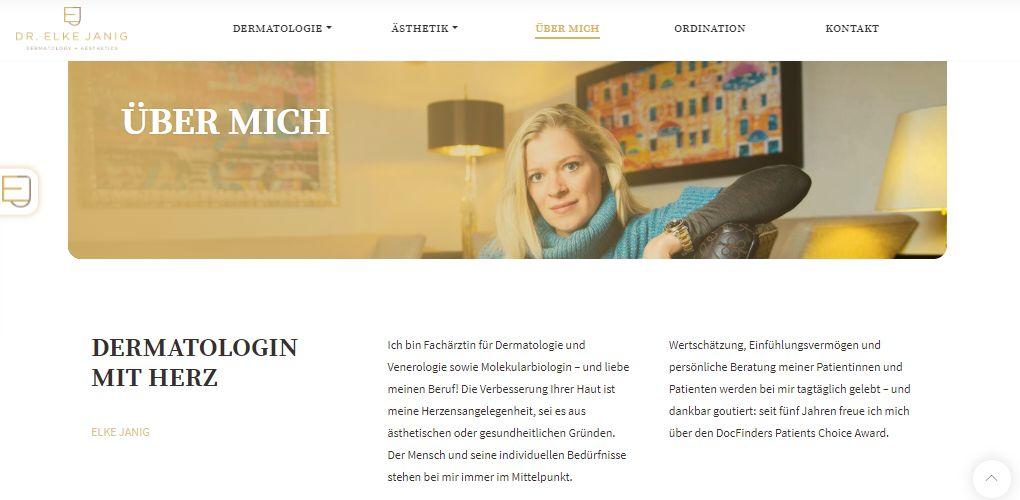 Screenshot Dr. Elke Janig | LiNAs BÜRO