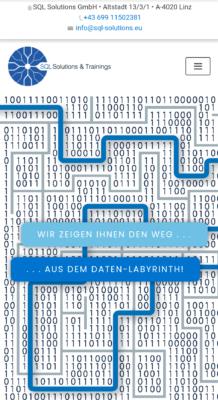 Website SQL Solutions, Screenshot | Lina Bibaric, LiNAs BÜRO e.U.