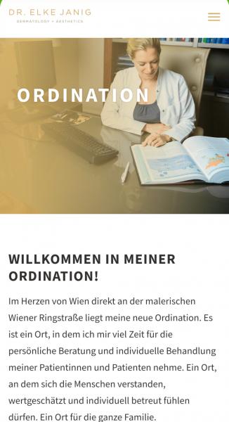 Website Mag. Dr. Elke Janig, Wien | www.janig-derma.at