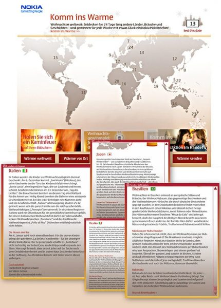 NOKIA Adventkalender | Idee, Text Lina Bibaric