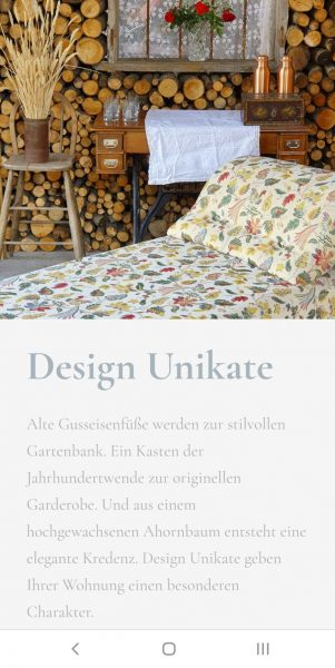 Screenshot Website Sophia Born, Interior Design, Texte von Lina Bibaric