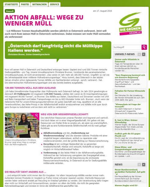 """Artikel Themen-Schwerpunkt """"Müll-Vermeidung"""" von Lina Bibaric"""