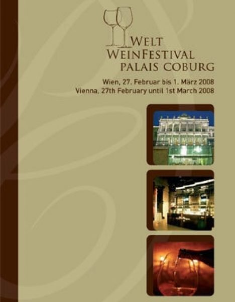 Palais Coburg, Weinfestival Folder | Mag. Lina Bibaric, Texterin