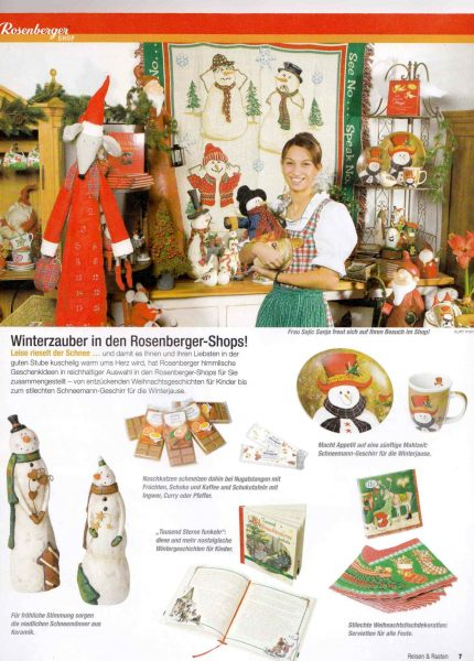 Rosenberger Magazin   Weihnachts-Advertorial   Lina Bibaric