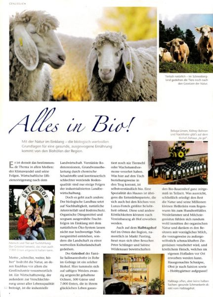 Biohof Advertorial | Text Lina Bibaric, Texterin