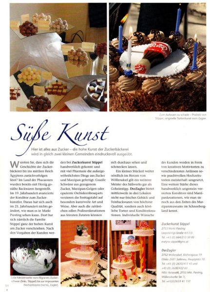 Konditorei Stipp, Advertorial | Text & Konzept Lina Bibaric, Texterin