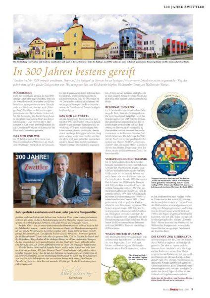 300 Jahre Zwettler Brauerei, Advertorial | Text & Konzept Lina Bibaric, Texterin